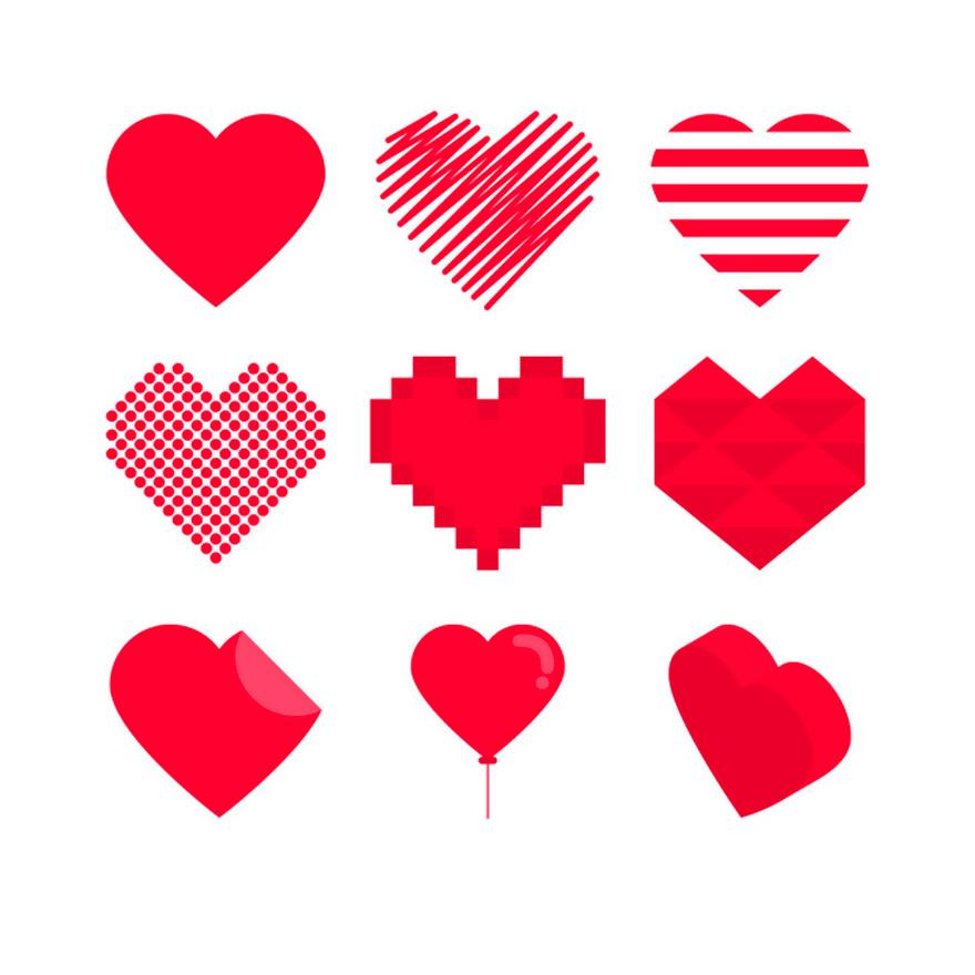 Vector trái tim miễn phí 3