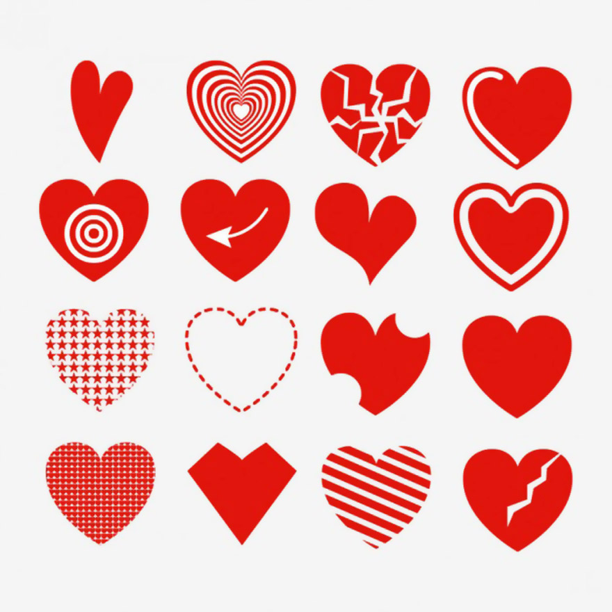 Vector trái tim miễn phí 25