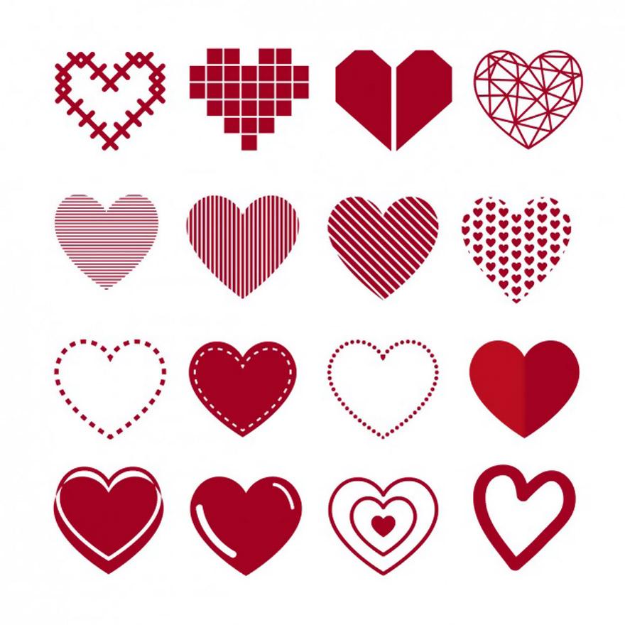 Vector trái tim miễn phí 5