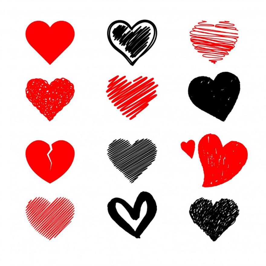 Vector trái tim miễn phí 6