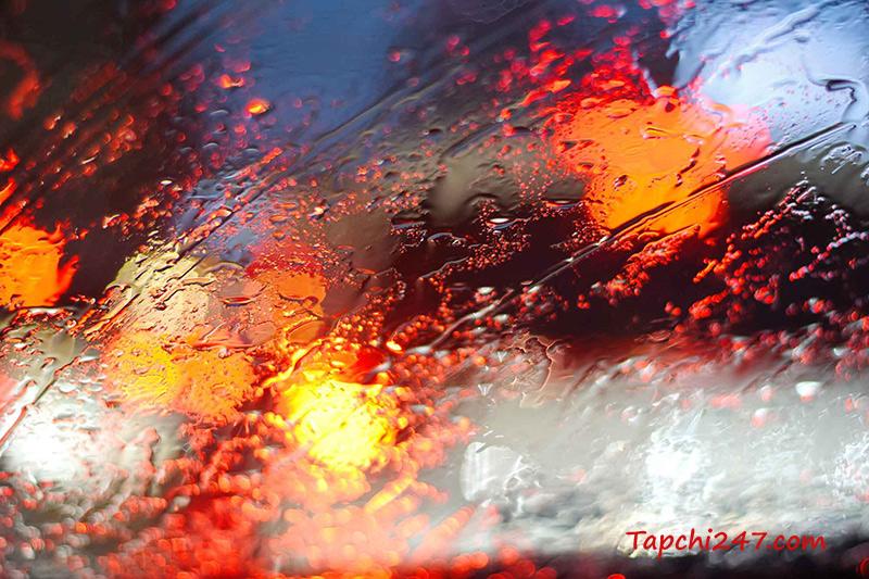Chụp ảnh mưa trừu tượng