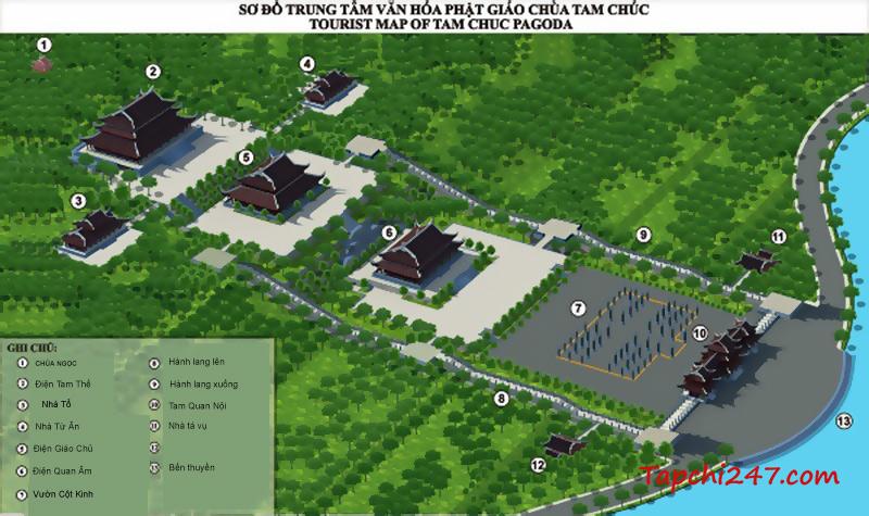 Kiién trúc chùa Tam Chúc