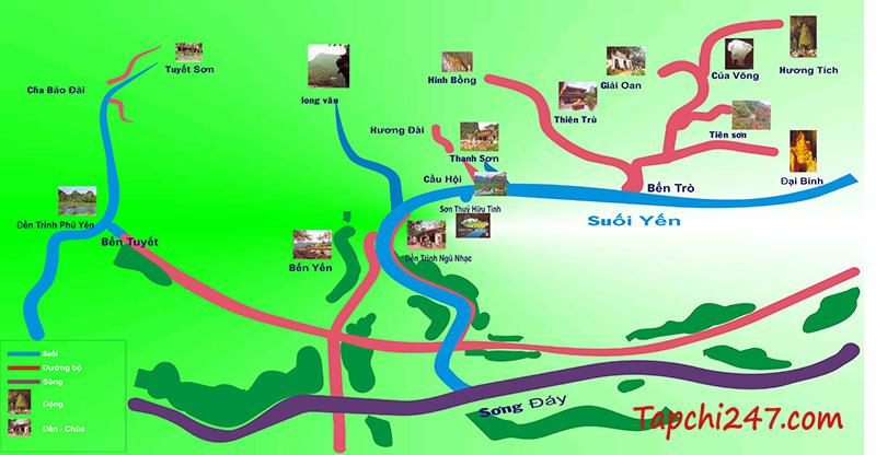 Sơ đồ chùa Hương